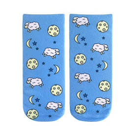 Counting Sheep Funny Farm Animals Womens Novelty Ankle Socks