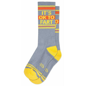 It's Ok to Fart Funny Words Unisex Novelty Crew Socks
