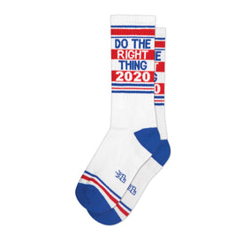 Do The Right Thing 2020 Funny Words Unisex Novelty Crew Socks