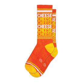Cheese Funny Words Unisex Novelty Crew Socks