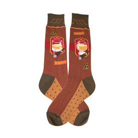 Bourbon and Cigar Funny Food & Drink Mens Novelty Crew Socks