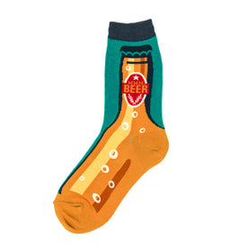 Mmm Beer Funny Food & Drink Womens Novelty Crew Socks