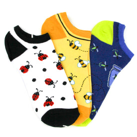Bugs3 Pack Funny Insects Womens Novelty Ankle Socks