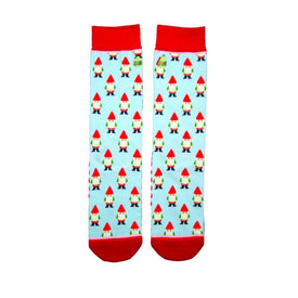 Garden Gnomes Funny Outdoors Womens Novelty Crew Socks