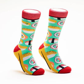 Sushi Me Rollin' Funny Words Womens Novelty Crew Socks