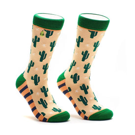 Cacti Funny Outdoors Womens Novelty Crew Socks