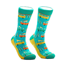 RV There Yet Funny Outdoors Womens Novelty Crew Socks