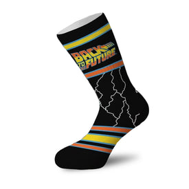 Back To The Future Funny Pop Culture Unisex Novelty Crew Socks