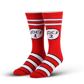 Sock 1 & 2 Funny Pop Culture Unisex Novelty Crew Socks