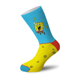 SpongeBob Happy Pants Funny Pop Culture Unisex Novelty Crew Socks