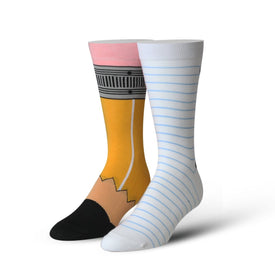 Pencil & Paper Funny Teachers Unisex Novelty Crew Socks