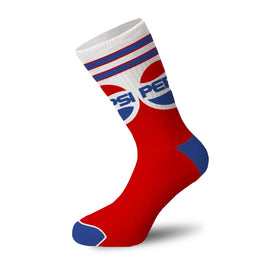 Pepsi Throwback Funny Junk Food Unisex Novelty Crew Socks