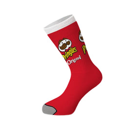 Pringles Can Funny Junk Food Unisex Novelty Crew Socks