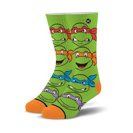 Teenage Mutant Ninja Turles Turtle Boys Funny Pop Culture Unisex Novelty Crew Socks