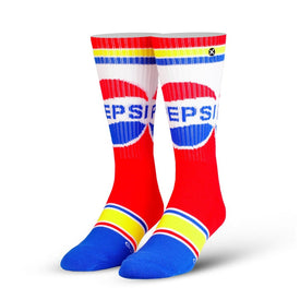 Pepsi Retro Funny Junk Food Unisex Novelty Crew Socks