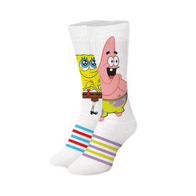 Spongebob Pretty Please Funny Pop Culture Womens Novelty Crew Socks