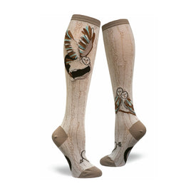 Barn Owl Funny Wildlife Womens Novelty Knee High Socks