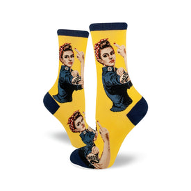 Nasty Rosie The Riveter Funny Inappropriate Womens Novelty Crew Socks