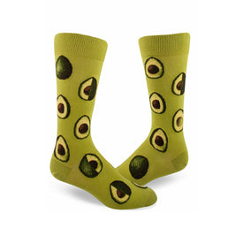 Avocado Phase Funny Vegetables Mens Novelty Crew Socks