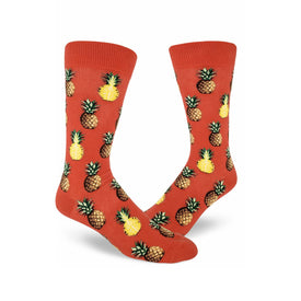 Pursuit of Pineapples Funny Summer Mens Novelty Crew Socks