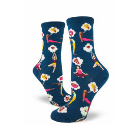 A Balanced Life Funny Yoga Womens Novelty Crew Socks
