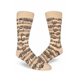 A Genius Composition Funny Music Mens Novelty Crew Socks