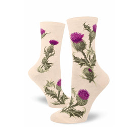 Thistle Funny Outdoors Womens Novelty Crew Socks