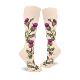 Thistle Funny Wide Calf Womens Novelty Knee High Socks