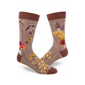Mushroom Funny Outdoors Mens Novelty Crew Socks
