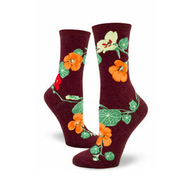 Nasturtiums Funny Outdoors Womens Novelty Crew Socks