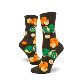 Oh My Gourd Funny Vegetables Womens Novelty Crew Socks