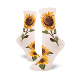 Sunflower Funny Spring Womens Novelty Crew Socks