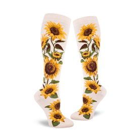 Sunflower Funny Spring Womens Novelty Knee High Socks