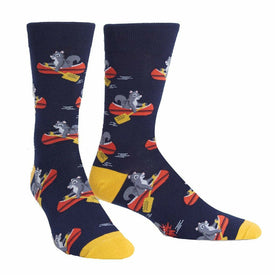 Keep on Paddling Funny Wildlife Mens Novelty Crew Socks
