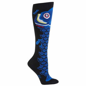 Fish Kite Funny Sea Life Womens Novelty Knee High Socks