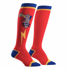 Raygun Funny Sci-Fi Womens Novelty Knee High Socks