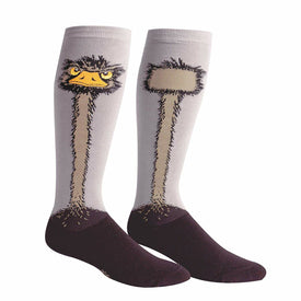 Ostrich Funny Wildlife Womens Novelty Knee High Socks