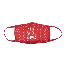 Shhh No One Cares Funny Words Womens Novelty Crew Face Mask
