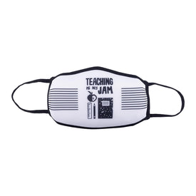 Teaching Is My Jam Funny Worklife Womens Novelty Crew Face Mask