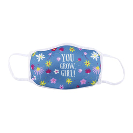 You Grow Girl Funny Words Womens Novelty  Face Mask