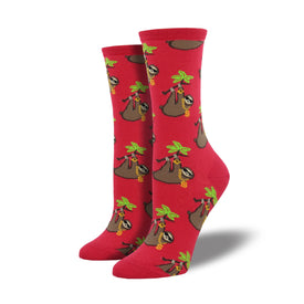 Sloth Funny Wildlife Womens Novelty Crew Socks