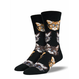 Kittenster Funny Pets Mens Novelty Crew Socks
