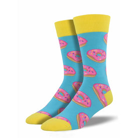 MMM…Donuts Funny Junk Food Mens Novelty Crew Socks
