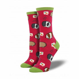 Guinea Pigs Funny Pets Womens Novelty Crew Socks