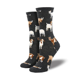 Silly Billy Funny Goats Womens Novelty Crew Socks