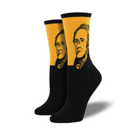 Hamilton Funny Politics Womens Novelty Crew Socks