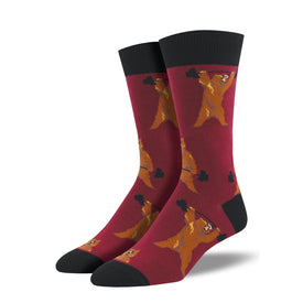 Bearbell Funny Wildlife Mens Novelty Crew Socks