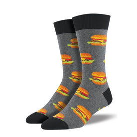 Good Burger Funny Junk Food Mens Novelty Crew Socks