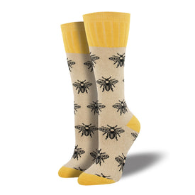 Outlands Bee Funny Wildlife Womens Novelty Over the Knee Socks