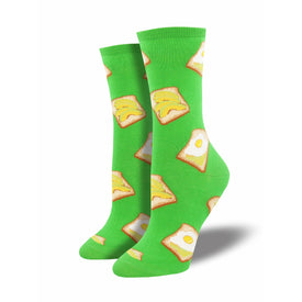 Avocado Toast Funny Fruit Womens Novelty Crew Socks